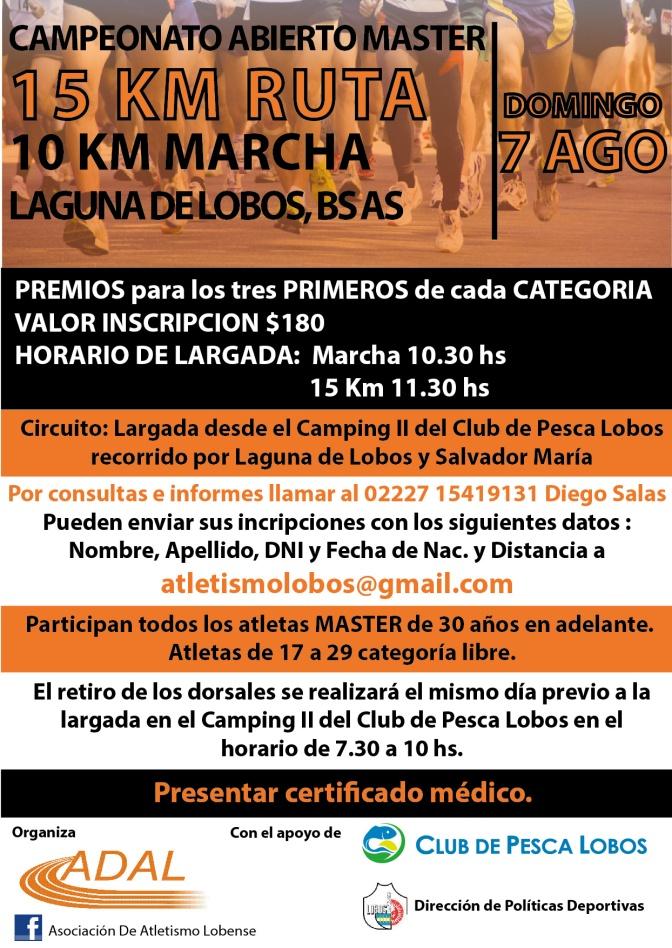 Campeonato Abierto Master Laguna de Lobos Bs As